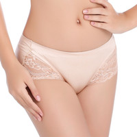 Wholesale Lace Edge Panties - MOXIAN Female briefs Explosion models sexy lace incognito seamless edging breathable hollow triangle waist cotton panties M size 0265A