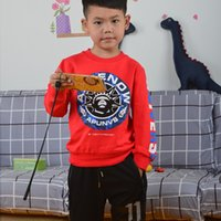 Wholesale Boys Cool Sweaters - Kids Clothes Baby boy Printing Letter Pattern O-Neck Jumper Sweater Long Sleeve Cotton Leisure High Quality Fashion Cool Soft Breathable