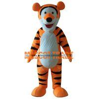 Wholesale Tigger Character Costumes - Wholesale-Orange Tigger Mascot Costumes Adult Tigger Clothing Character Costume