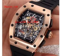 Wholesale Mens Bracelets Rose - Luxury Watches New Super Cool 011 Le Mans Classic Rose Gold AAA Black Rubber Bracelet men mens watch Wristwatches Clock