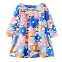 Wholesale Wholesale Cute Casual Dresses - Kidsalon Baby Girl Clothes Cute Prine Long Sleeves Girls Dresses with Pockets Fashion Princess Dresses for Girls Clothing