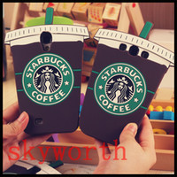 Wholesale Starbucks 4s - 3D Fashion Starbucks Coffee Cup Soft Gel Silicone Case For iPhone 4 4S 5 5S 6 6S Plus Samsung Galaxy S5 S6 edge