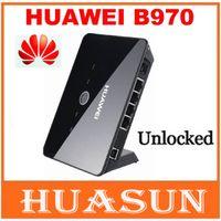 desbloquear huawei 3g al por mayor-Original abierto Huawei B970 B970b router inalámbrico 3G desbloqueado HSDPA Router WiFi Envío libre