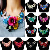 Wholesale Gem Stars - Wholesale-Star Jewelry wholesale for women maxi necklace 2015 new design fashion statement necklace Gem flowers necklaces &