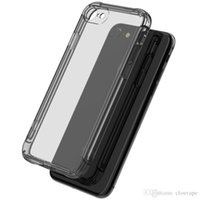 Wholesale Gold Corner - For Smasung Galaxy S8 plus bumper silicone case with four corners shockproof drop protective cover for iPhone X 6S 7 8 Plus