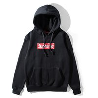 Wholesale Boxing Clothing For Men - Fleece long sleeve pullover hoodies printed box logo for women men hoodie sweatshirt hip hop streetwear fashion men clothes pluz size coat