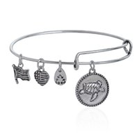 Wholesale Turtle Bangles - Wholesale New Silver RETIRED Sea Turtle Bracelets Expandable Wire Bangle Bracelet Jewelry for Women free shipping