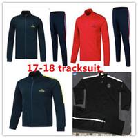 Wholesale Zipper Jr - 2018 Maillot France PSG zipper tracksuit sweat jogging suit survetement training suit jacket paris NEYMAR JR MBAPPE Ronaldo Sportswear suit