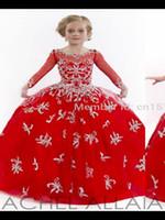 vestido del oeste de las muchachas del niño al por mayor-2016 recién llegado de la longitud del piso princesa vestido de Western Kids niña de las flores vestidos de longitud completa con bordado