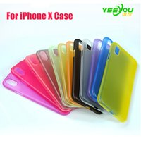 Wholesale Black Yellow Fitted - For iphone X Case Ultra-thin Silicone Transparent Environmental protection PP material Protector Cover Colorful for iphoen 8 7plus 6S