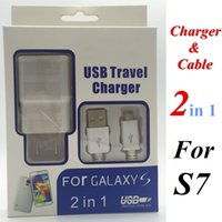 Wholesale 2 in charger kits A mA US EU plug Home Wall Chargers MINI USB Adapter MICRO USB DATA Charger CABLE For SAMSUNG