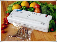 Wholesale Vacuum Heat Sealers - Free Express Shipping !Home Electric Vacuum Food Sealer Heat Sealing Machine Household Packing Sealers Food Saver Preserver