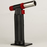 Wholesale gas barbecue lighter - XXL Black torch butane lighter Outdoor barbecue spray lighters convenient Smoking tools for kitchen use NO Gas With Retail Package fashion