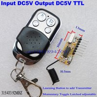 Wholesale Relay Driver - Wholesale-5V DC 4channel RF Receiver Transmitter Module Output DC5V 4CH high Level TTL Transceiver Module Relay driver Module 315 433mhz