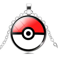 Wholesale Personalized Picture Jewelry - 2016 Hot Vintage Glass Dome Jewelry Eevee Pokeball Necklace Pendant Personalized Picture Necklace Jewelry Gifts Xmas