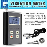 sensores piezoelétricos venda por atacado-Aceleração de Velocidade de Deslocamento VM-6370 10Hz ~ 10kHz Medidor de Vibração Medidor de Vibração Digital Sensor De Transdutor Piezoelétrico