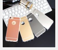 Wholesale tpu case s4 - Mirror Case Electroplating Chrome Soft TPU Case Cover FOR IPHONE 8 Galaxy S8 S8 PLUS S7 S7 EDGE S4 S5 S6 S6 EDGE A3 A5 A7 2017 NOTE 8 100PCS