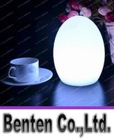 Wholesale Rechargeable Bar Table Lamp - Colorful LED Egg bar table lamp Break-resistant, rechargeable LED glowing lighted egg night light for Christmas,club,bars LLFA