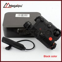 Wholesale Tactical Red Laser Torch - Magaipu Tactical AN PEQ-15 RED Laser with White LED Flashlight Torch IR illuminator For Hunting Outdoor Black Dark Earth