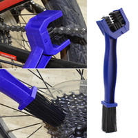 Wholesale Bmw Cleaners - Motorcycle Bike Chain Maintenance Cleaning Brush Cycle Brake Remover For Honda Yamaha KTM Kawasaki Suzuki BMW Blue Tools