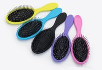 Wholesale Comb Dry Hair - Wet & Dry Hair Brush Original Detangler Hair Brush Massage Comb With Airbags Combs For Wet Hair Shower Brush