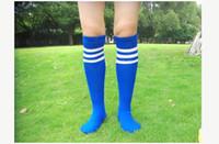 diz çorapları beyzbol üzerinde toptan satış-Toptan-Casual Erkek Spor Futbol Futbol Diz Yüksek Çorap Beyzbol Hokey Toptan Üzerinde Uzun Çorap