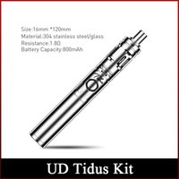Wholesale E Cigarette Removable - Newest Original UD Tidus E-Cigarette Starter Kit 800mAh Battery with 2ml Juice Capacity Top Cap with Childproof Lock Removable