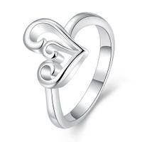 Wholesale Big Stone Ring Designs - USA size Geometric design Bohemian dropshipping prong setting zircon sterling silver biker big stone ring designs for women ring women Valen