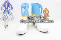 Wholesale Boots Smile - Wholesale-Smile Pretty Cure Precure All Stars New Stage Cure Diamond cos Cosplay Shoes Boots shoe boot #JZ1621 anime Halloween Christmas