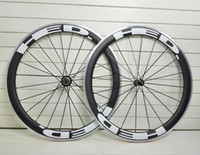 Wholesale Cycling Clincher - 2016 T1000 3k UD HED JET 4 plus carbon road wheels 700C 50mm Aluminum alloy brake surface racing bike rim bicycle cycling Clincher wheelset