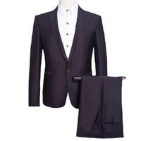 Wholesale Jacket Anzug - Wholesale-2016 New Men Notched Lapel Blazers Wedding Suits Jacket+Pants Custom Veste De Loisir Herren Anzug Groom Dress Tuxedo Dress Suits