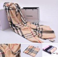 Wholesale Wholesale Luxury Scarves - Top Brand designer cashmere scarf pashmina shawl winter warm luxury brand plaid style cashmere long scarves shawls 180*70cm YYA521