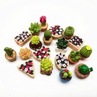 ingrosso nave miniatura diy-19pc Flower Set Miniature Fairy Garden Decorazione della casa Mini Craft Dollhouse Micro Decor Fai da te Gift Moving Forest Drop Shipping