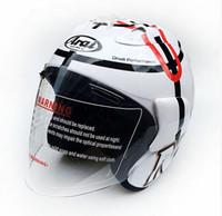 Wholesale Helmets Cross Country - Free shipping New ARAI New motorcycle helmet racing helmet cross country half helmet men and women sunscreen helmets 2017