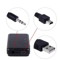 Vente en gros Bluetooth Music Receiver 3.5mm USB stéréo sans fil audio Adaptateur pour iPod iPhone Phone Tablet PC Portable