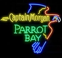 Wholesale Neon Bar Sign Captain Morgan - New Captain Morgan Parrot Bay Glass Neon Sign Light Beer Bar Pub Sign Arts Crafts Gifts Lighting Size: 22""