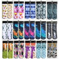 Wholesale Socks Low Ankle - Popular Attractive 3d printed socks kid 3d Harajuku socks cute Casual animal socks kids Fashion Low Cut Ankle Socks 63 designs available