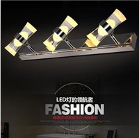 Wholesale wall mounted light mirror - Creative crystal led mirror light 6w Stainless Steel bathroom wall lamp vanity wall lights for home bedroom led modern mount lamp