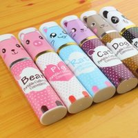Wholesale Cute Stainless Steel Spoon - Tableware Cute Animal Packing Creative Stainless Steel Practical Chopstick Spoon Fork Eco Friendly Home Dishware Outdoor Portable 1 5zh R