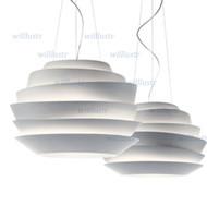 Wholesale Le Soleil White Light - Foscarini Le Soleil Wave White Rose Suspension lamp Pendant Lamp hanging light designed by VICENTE GARCIA JIMENEZ diameter 63cm 43cm