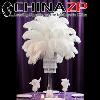 Wholesale Bulk Black Feathers - CHINAZP Factory 10 colors Hot Sell 20-25cm(8inch~10inch) DIY Ostrich Bulk Feather Plumes for Wedding centerpiece table centerpiece