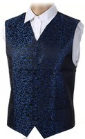 "Wholesale Ivory Wedding Waistcoats - Fall-New Mens Top Swirl Wedding Waistcoat Chest Available S-5XL UK Size 36""-50"""