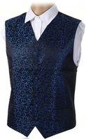 ingrosso panciotto paisley-Pettorina da uomo Swirl Top-Swing New New-Mens disponibile S-5XL UK Size 36