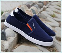 Men blue beijing - Breathable Casual Dawdler Trend Male Old Beijing Cloth Canvas Shoe Pedal Skate