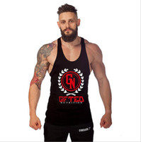 Wholesale Beauty Clothing - Mens Bodybuilding Sports Training Gym Tank Tops Cotton Sleeveless Men's Clothing Beauty Aerobics Fitness Loose Vest Tanks Tops