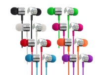 Wholesale mega apple - In-ear Earphones HiFi Metal Headphones Noise Cancelling Piston Earbuds Mega Bass with Remote & Mic Universal for iPhone LG Samsung