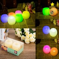 2PCS / Lot LED Candles Batterie Opération Flicker Flameless LED Tealight Bougies de thé électroniques Light Wedding Birthday Party Christmas