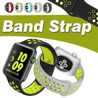 Band Sports Watch 38MM 42MM Replacement Silicone Soft Wrist Bracelet Com Conector Para Apple Watch iWatch Series 1/2/3 Strap Band 38 / 42mm