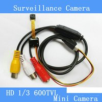 Wholesale Small Industrial Camera - Industrial, medical 5MP HD 600TVL mini surveillance camera module smallest micro-camera module is only 6.5 * 6.5*4mm pinhole camera cctv cam