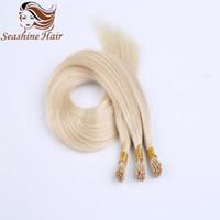 """Wholesale Stick Virgin Hair - 7A Grade 18""""-24""""I-Tip Hair Extensions Brazilian Stick Virgin Human Hair Extension I Tip Silky Straight Hair Extensions"""